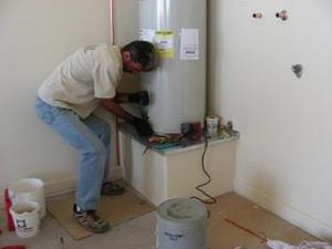 a new water heater installation in Bowie